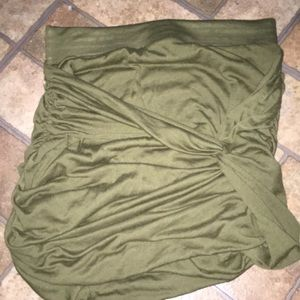 Ruched Free People Olive Skirt